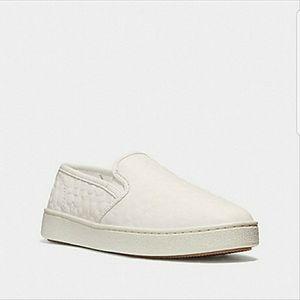 🆕List Coach C117 C Signature Slip On Sneakers